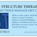 Black Friday Deep Tissue Massage Gift Card Special